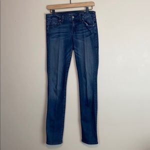 Level 99 Lily Skinny Straight Jeans w/ Whiskering